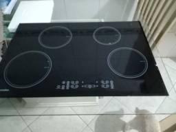 Fogão Electrolux cooktop 4 Bocas elétrico vidro trincado funcionando tudo