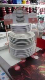 Grande Promoção dos pratos redondo caixa com 12 pratos por 100.00