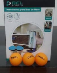 Rede para tênis de mesa retrátil + kit