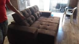 Sofa retratil e reclinável promoção relampago 1399 por 1199