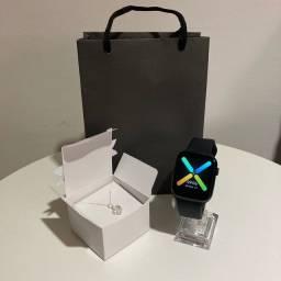 Combo presente - smartwatch + colar prata 925 - Entregas grátis em Curitiba