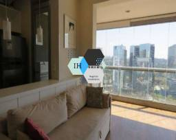 Título do anúncio: Apartamento 1dorm, 1suíte, 1vaga, 54m² para alugar em Santo Amaro, Oportunidade!!!!!!!!!!!