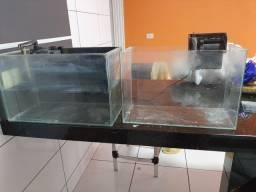Título do anúncio: Vende se 2 aquários com bomba 250,00
