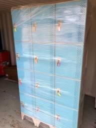 Armário Locker Multi-Uso em Plástico - 12 Portas