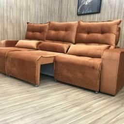 Sofa Retrátil e Reclinável 2,50mt com frete gratis
