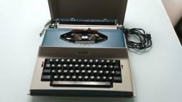 Máquina de escrever portátil para colecionadores - Modelo japonês - Silver Reed - SP-8000