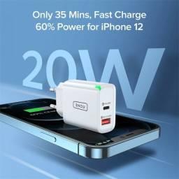 Carregador Ultra Rápido para Smartphones UNIU 20W