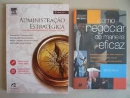 Livros Administração Estratégica e Como Negociar de Maneira Eficaz