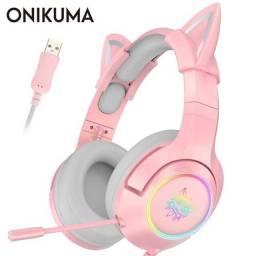 Título do anúncio: Headset Onikuma k9 pink