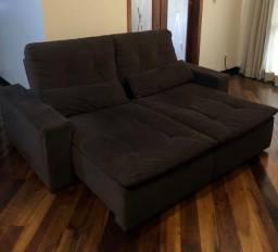 Sofá retrátil e reclinável Lumiere 2,20