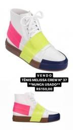 Vendo tênis Melissa Crew nº 37 branco e colorido