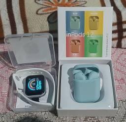 Relogio smartwatch + Fone sem fio