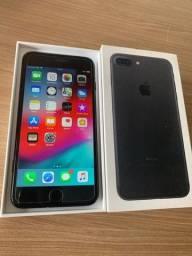 iPhone 7plus 128GB Jet Black - na caixa - impecavel - completo