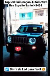 Barra de led para Jeep Renegade + Led Premium 18000 Lumens faróis