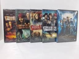 DVD Coleção Piratas do Caribe (5 filmes) (Lacrado)