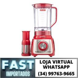 Liquidificador Turbo Mondial 1100w c/ Filtro 12 Velocidades * Novo