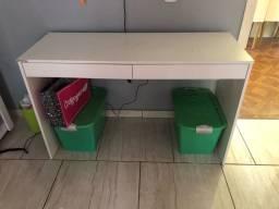 Título do anúncio: Escrivaninha branca com duas gavetas