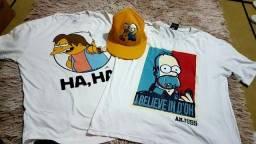 Camisetas e boné  simpsons