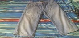Bermudão Jeans Masculina Tam.42 Importada Semi Nova R$ 18