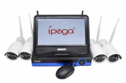 Kit nvr 4 câmeras Wi-Fi