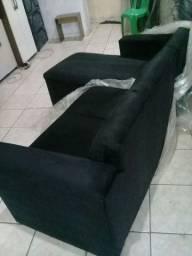 Sofá chaise preto