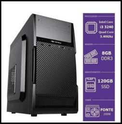 I3 3240 3.40Ghz / 8Gb De Memoria / Ssd 120Gb / Fonte 220w / W10 Pro / Office 2019