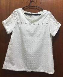 blusa feminina para noite - branca com pérolas