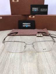 Óculos Oakley Macan Prata armação de alumínio