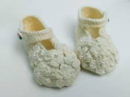 Sapatinho de crochê para bebês