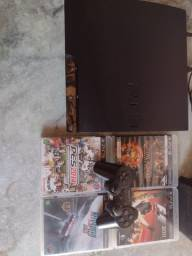 Título do anúncio: Playstation 3 Slim 160GB Black *Leia A Descrição*