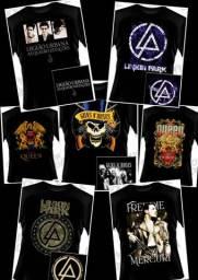Camisas de Bandas de Rock