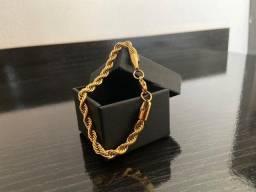 Título do anúncio: Pulseira Dourada (17cm/5mm)