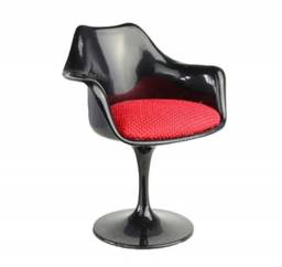 Miniatura cadeira tulipa vermelha nova