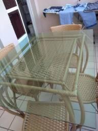 Título do anúncio: Mesa , banco e 4 cadeiras