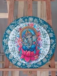 Mandala decorativa Ganesha