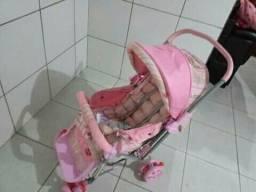 Carrinho Rosa de bebê