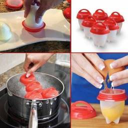 Kit De 6 Formas Em Silicone Cozinhar Ovos Recheados