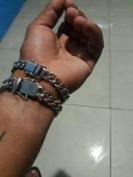 Pulseira de prata maciça