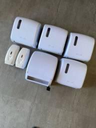 Dispenser de papel e sabonete