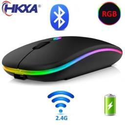 Mouse Gamer RGB Sem Fio Receptor USB 2.4G Recarregável