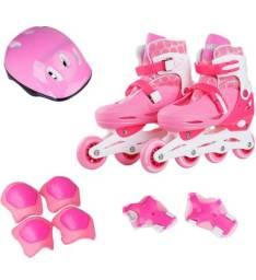 Patins Infantil Com Kit De Proteção - Calça do 32 ao 35