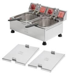 Fritador Elétrica Industrial Marchesoni 12 L 2 Cuba 220v