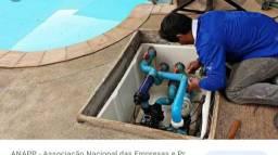 Manutenção em bombas de piscina.
