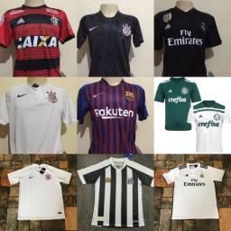 Camisa Corinthians, Palmeiras, Real Madrid , Barcelona etc