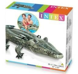 Boia Inflável Intex Crocodilo Jacaré Com Alças De Segurança