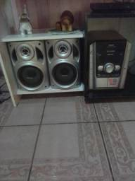 Vendo rádio com 5 cd