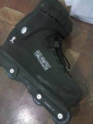 Roller Patins Black Traxx + Kit Proteção completo