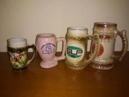 4 canecas de ceramica antigas