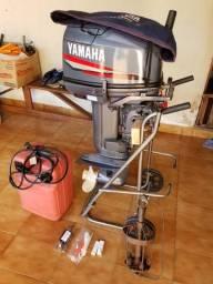Motor De Popa Yamaha 25 Pescaria Único Dono - 2009