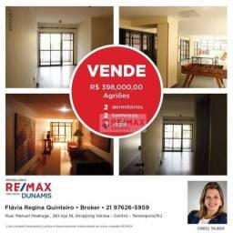 Apartamento com 2 dormitórios à venda, 77 m² por R$ 398.000,00 - Agriões - Teresópolis/RJ